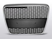 GRILL AUDI A6 C6 RS-STYLE SILVER-BLACK (04-09)
